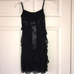 Kids Layered Frilled Black Dress